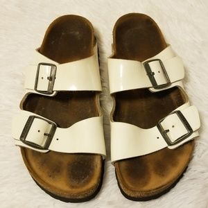 Birkenstock Arizona White Sandals Size 39